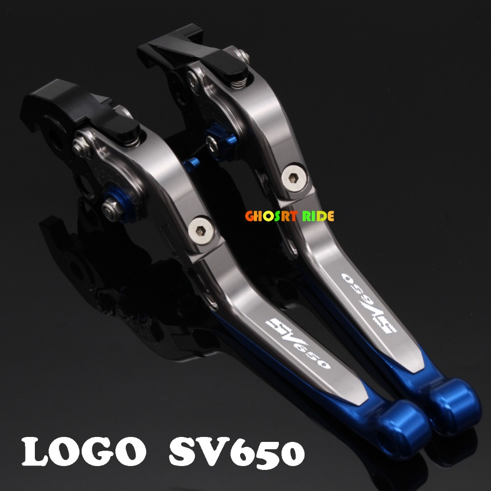With Logo(SV650)CNC New Adjustable Motorcycle Brake Clutch Levers For SUZUKI SV650 SV650S 1999 06 07 08 2009 cnc brake clutch levers for suzuki sv650s sv1000s 03 13 sv 650s sv 1000s sv650 s 1000 03 04 05 06 07 extendable foldable lever