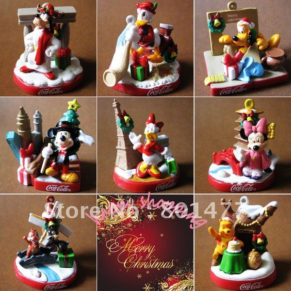 8pcs christmas xmas cartoon ornament mickey mouseminnie mousedonald duckdaisy - Minnie Mouse Christmas Ornament