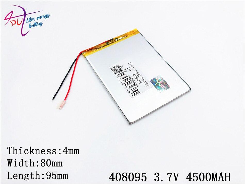Batterien Digital Batterien Beste Batterie Marke Die Neue 408095 3,7 V 4500 Mah Li-ion Tablet Pc Batterie Für 7,8 9 Inch Tablet Pc Polymer Lithiumio Einfach Und Leicht Zu Handhaben