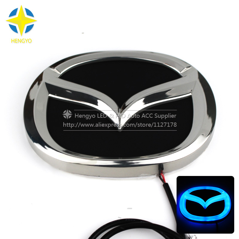 Car Auto Accessories 4D Car Logo Light Case For Mazda 2 3 6 8 CX-7 Rear Car Badge Light Auto LED Logo Lamp Auto Emblem Light new arrival 3d logo car light led cold light emblem for mazda6 mazda2 mazda3 mazda cx7 car sticker auto badge