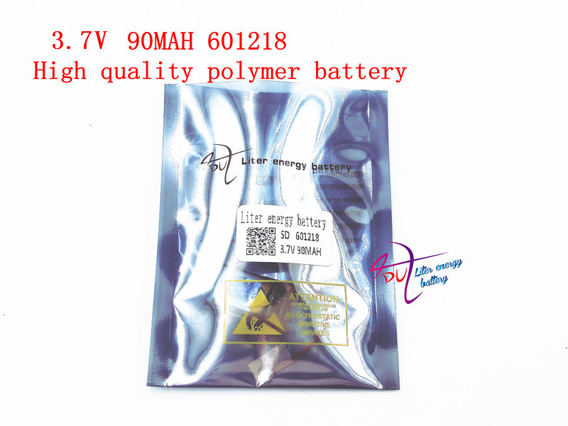 601218 3.7V 90MAH Liter energy battery 601218 Bluetooth headset toys MP4 lithium polymer battery bluetooth speaker megaphone electric toys 042030 160mah 3 7 v lithium battery lithium polymer battery