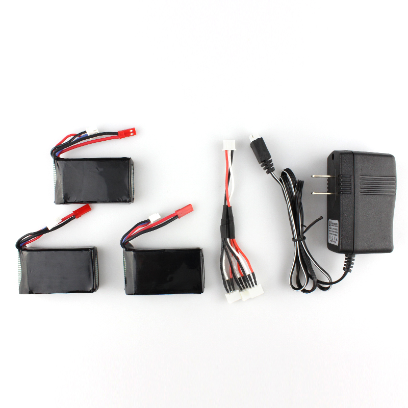 3pcs 7.4V 1300mAh Battery + 3 in 1 Charger Cheerson CX-35 CX35 RC Quadcopter Spare Parts3pcs 7.4V 1300mAh Battery + 3 in 1 Charger Cheerson CX-35 CX35 RC Quadcopter Spare Parts