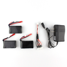 3pcs 7.4V 1300mAh Battery + 3 in 1 Charger Cheerson CX-35 CX35 RC Quadcopter Spare Parts