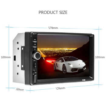 AMPrime 7018B 2 Din Car Radio HD Autoradio LCD Touch Screen Car Stereo MP5 Player Support Rear View Camera With Remote Control