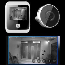 3.0 inch 120 Degree Wide Angle Digital LCD Peephole Viewer Eye Doorbell Digital HD Eye Video Recorder 1MP Camera Recorder