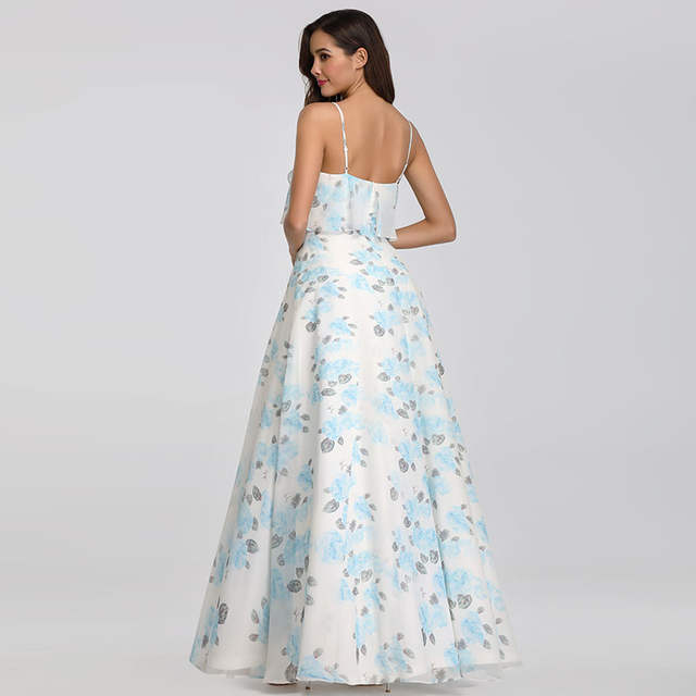 Us 33 65 49 Off Bridesmaid Dresses Long Ever Pretty Ep07236 Cheap Chiffon Sleeveless Floral Beach Dress For Wedding Guest Party Bridemaid Robes In