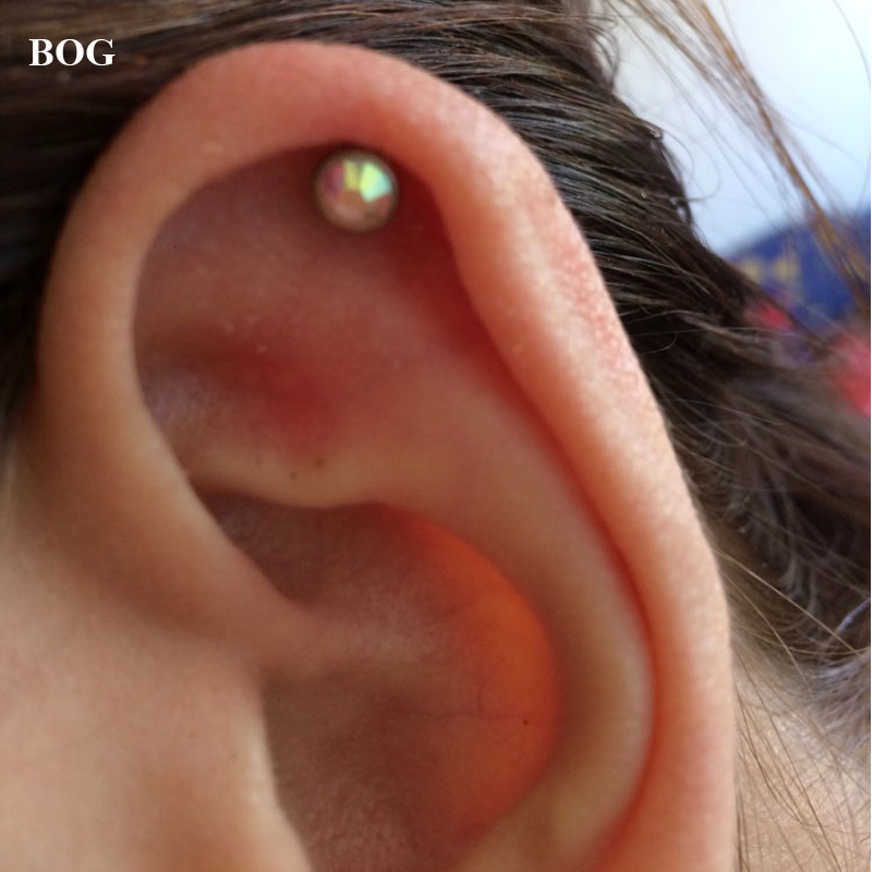 Us 1 39 30 Off Bog Lot 3pcs16g Tragus Helix Bar Cartilage Top Upper Ear Earring Stud Labret Body Jewelry Piercing Mixed 3 Size In Body Jewelry From