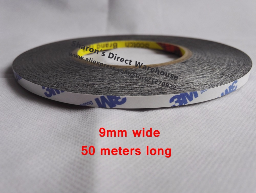 9mm 50M Scotch Two Sides Sticky Tape White Black Choose For LCD LED