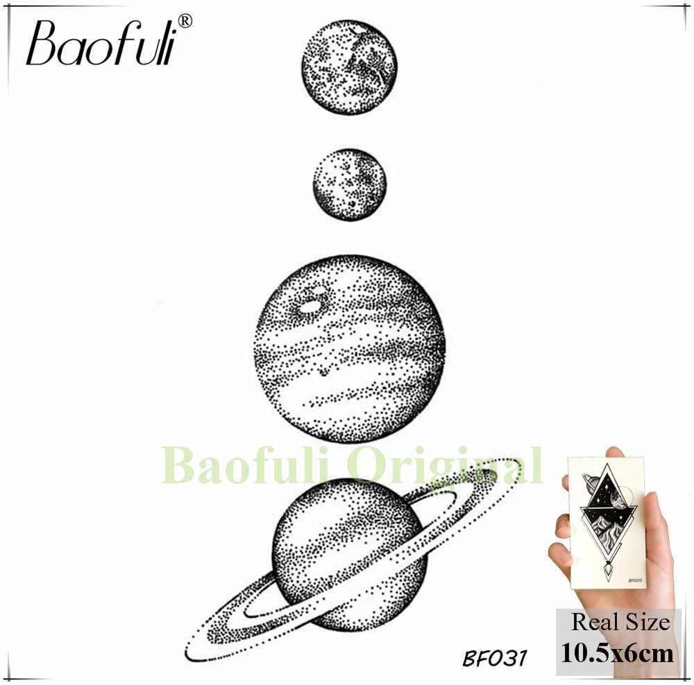 25 tasarım evren geçici vücut sanatı dövme uzay gezegenler kalem kroki sahte dövme Arms bacaklar uzun kollu dövmeler çıkartmalar siyah