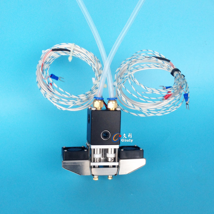 UM2+ Ultimaker 2+ 3D printer complete dual print head hot end kit all metal kit dual nozzle 1.75/3mm for DIY 3D printer запчасти для принтера 3d printer accessories feed nozzle throat m6 20mm 10pcs 3d ultimaker 3 3d m6 20 3d printer feed throat ultimaker printheads for 3mm supplies