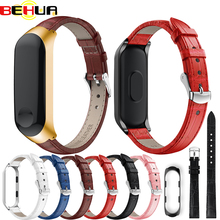цена на Bracelet for Xiaomi Mi Band 3 Sport watchband with case watch Leather wrist strap For xiaomi miband 3 accessories Band Strap