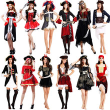 Capitano pirati dei caraibi Martinetti Sparrow Pirata fantasia Per Adulti Vestito Operato Da Cosplay di Carnevale di Halloween del Costume di Cosplay Degli Uomini Delle Donne
