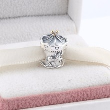 ZMZY новые оригинальные 925 пробы серебряные амулеты карусель на детской площадке бусины в виде лошадей fit Pandora браслет для женщин Рождественский подарок