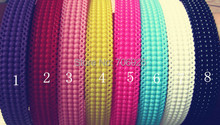 24pcs/lot Free shipping Wholesale Mixed color plastic hair bands  18mm