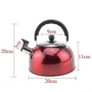 1xStainless Steel Silver Whistling Kettle Electric Stove Gas Hob Camping Boat US