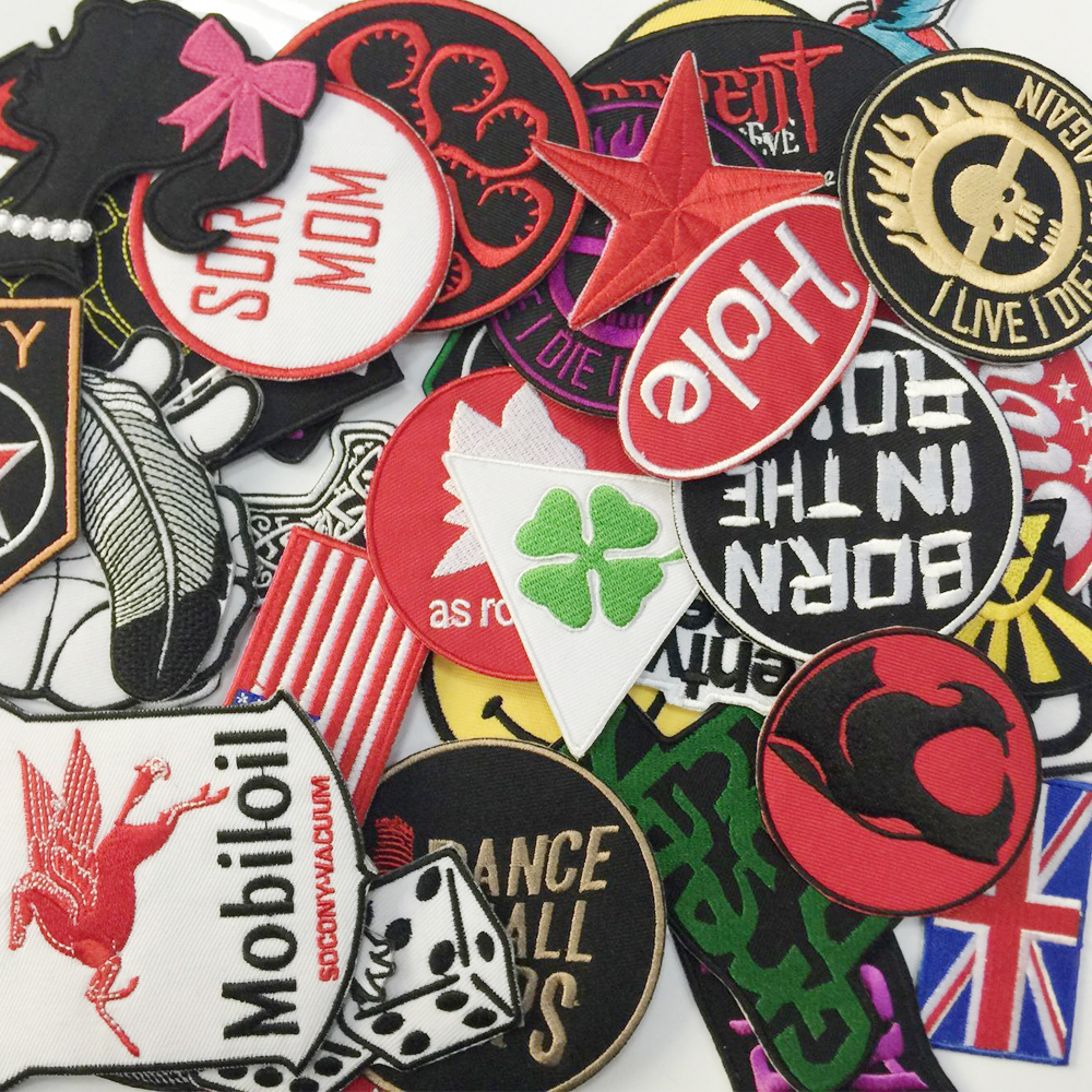 3696faed5b3 Aanywell patch N7 WHOLESALE Lot 24 Mixed On skull cartoon Patch Sew  Embroidered Hat Shirt DIY Music Rock Punk Metal-in Patches from Home    Garden on ...