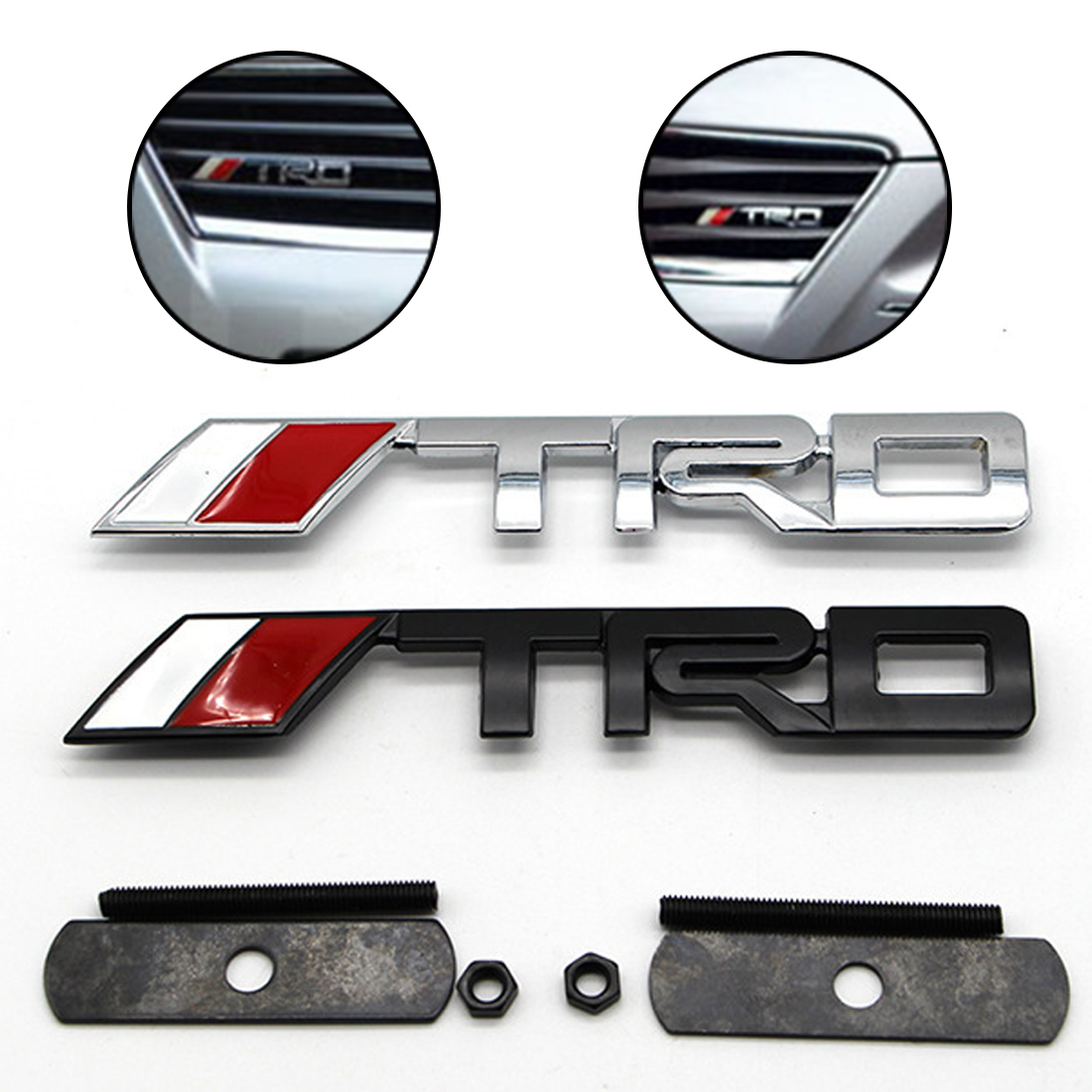 Dewtreetali TRD Metal Emblem for toyota Racing Car Logo JDM Hood Badge 3D TRD Grille Emblem badge Sticker 3d metal auto car performance badge decal fender emblem for trd sports racing