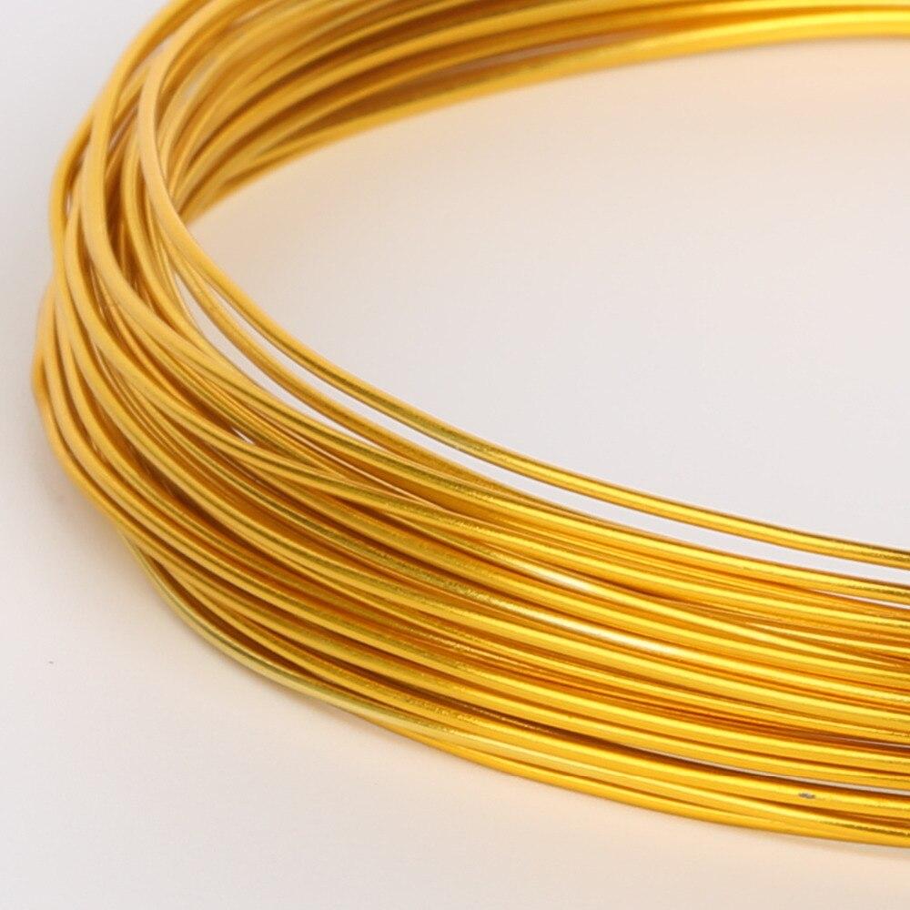 Novo suporte adorável jóias artesanais de fio de alumínio dourado fabricante 1mm 1.5mm 2mm 2.5mm, vendido por lote de 1 rolo (10m/5m/3m)