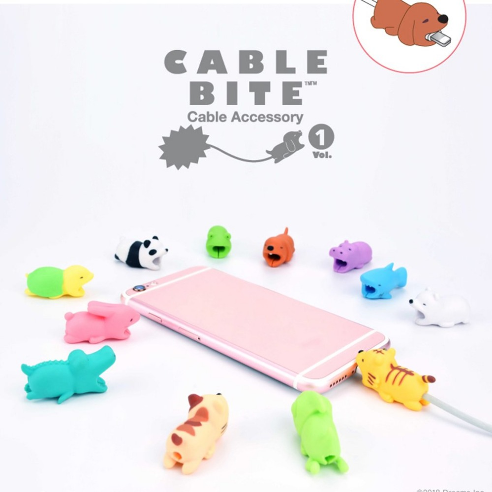 Image 5 - Cute Animal cable protector For iPhone x 8 huawei usb cable organizer cable management organizador de cables For Mouse Headphone-in Cable Winder from Consumer Electronics