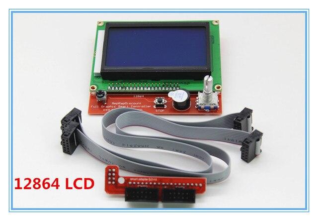 1 шт. RAMPS1.4 жк 12864 панель управления 3d-принтер смарт-контроллер жк-дисплей бесплатная доставка прямая поставка
