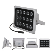 12V Infrared Light Lamp 15 LED Night Vision Metal Waterproof Fill Light For CCTV Security Accessories