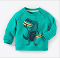 In the autumn of 2016 new European style clothing sweater children long sleeve crew neck dinosaur with velvet baby boy clothes