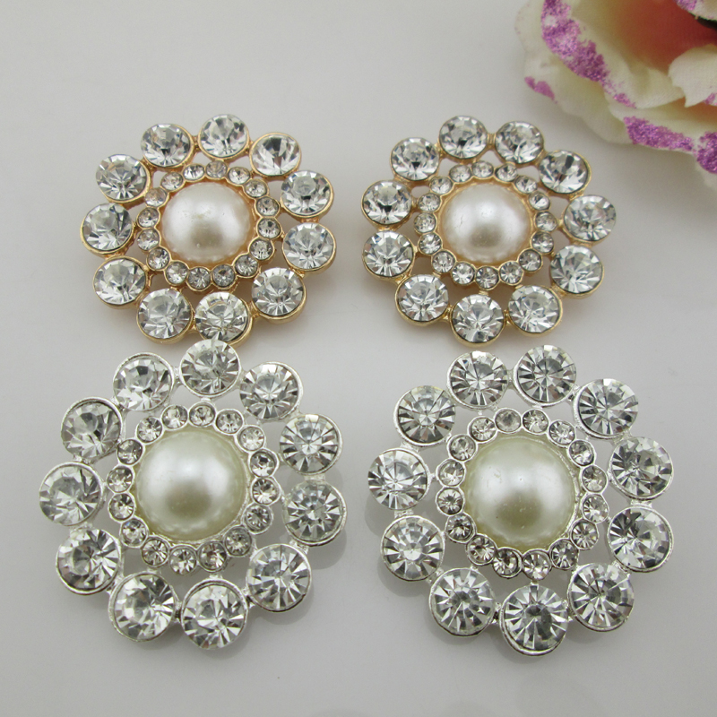 10 Pcs Vintage Style Flower Wedding Alloy Rhinestone Crystal Shank Buttons  Craft d2b903c23650