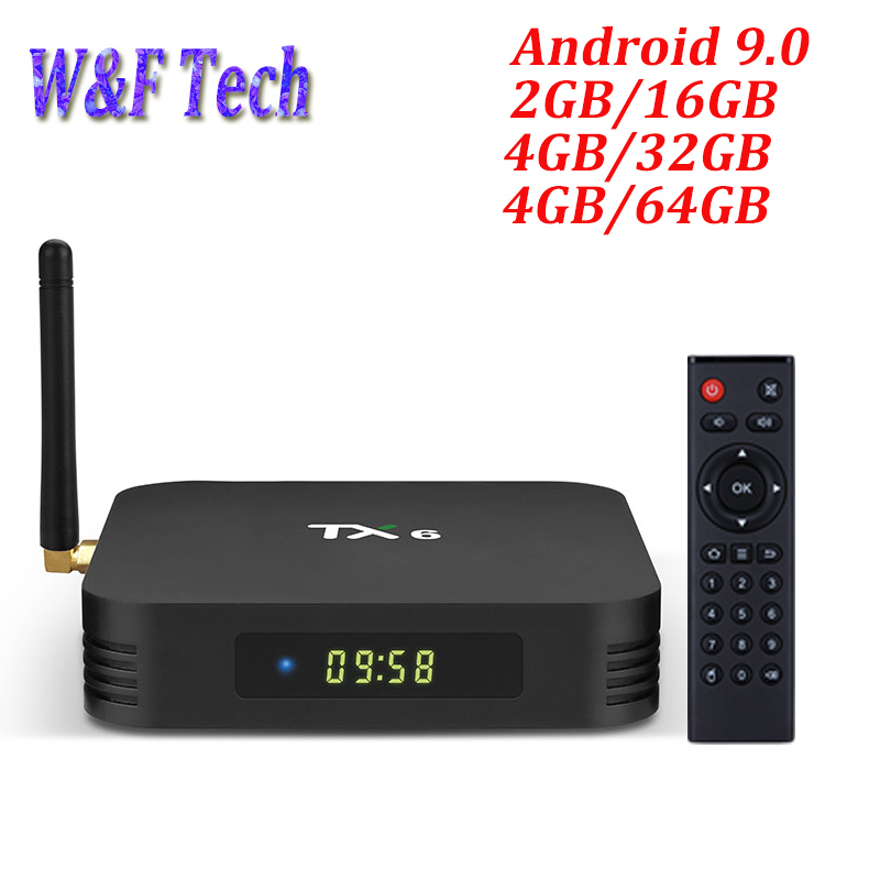 5PCS TX6 TV Box Android 9 Allwinner H6 4GB DDR3 32GB 64GB EMMC 2 4GHz 5GHz
