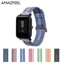 Нейлон Amazfit Youth bip bit ремешок для наручных часов для Xiaomi Huami Amazfit samsung S2 ремешок металлические разноцветный браслет 20 мм браслет