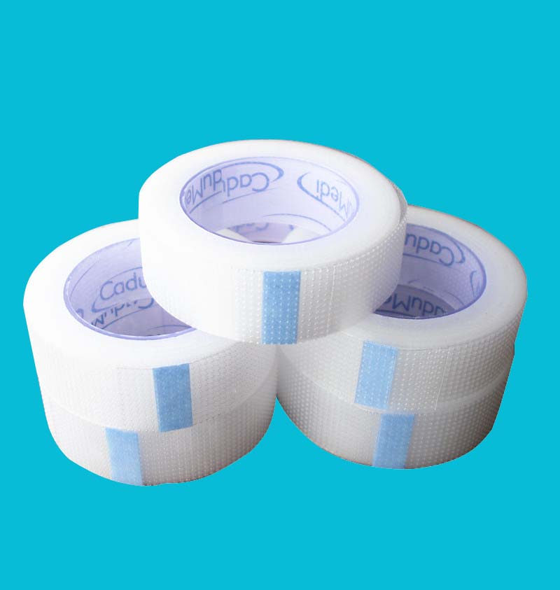1rolls 1.25cm*5y Medical Pe Perforated Tape Pe Coated Tape Transparent Medical Tape Pe Protection Pe Tape