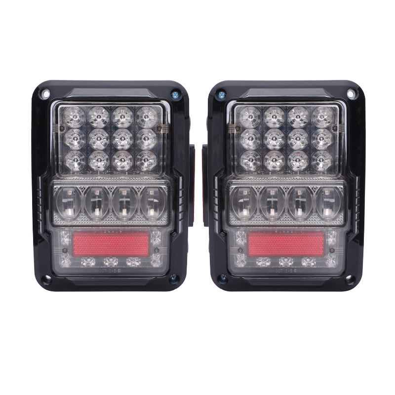 New LED Tail Lights Smoke Lens For Jeep Wrangler 2007 2017 JK With Break Back Up