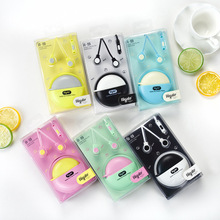 2017 Cute In-Ear stereo earphone for Iphone samsung MI LG Huawei HTC storage case music earbuds package magic microphone A19