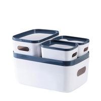 Home Storage Box 4 Sets The Price of Cabinets Tableware Case Rectangular Cosmetics Makeup Organizer Office Toy Plastic Container
