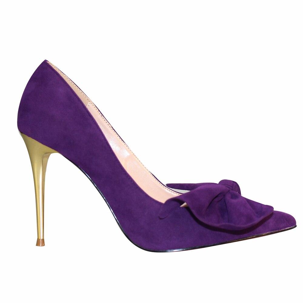 noeud Femmes Femme Bowtie Talon Nouvelles Mince Mariage Purple Papillon Partie ol Timetang Pompes Chaussures robe de casual D'été Pointu Doux Bout xAYwcq1E