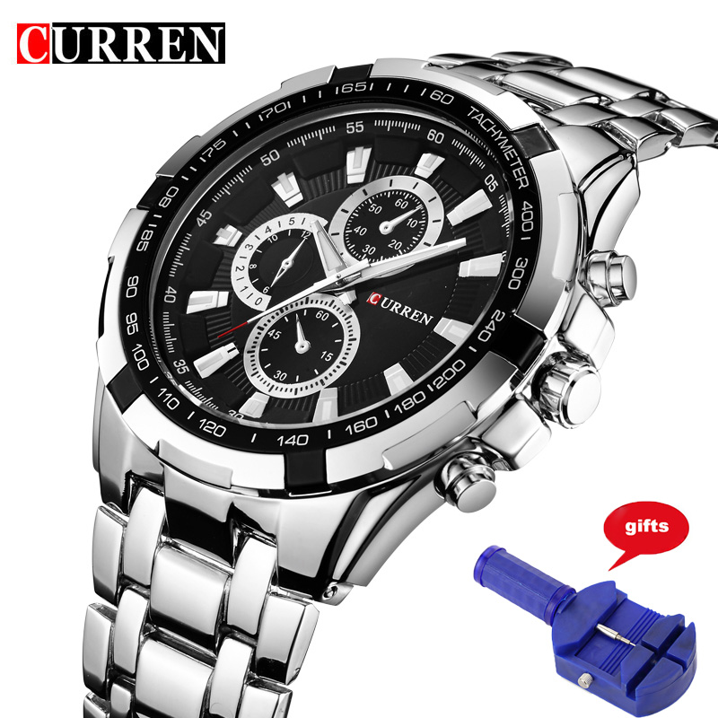 Curren Brand Luxury Men Watch Full Stainless steel Watches Business Casual Quartz Colck Military Sport Wristwatch Relogio 8023 curren brand luxury men watch full stainless steel watches business casual quartz colck military sport wristwatch relogio 8023