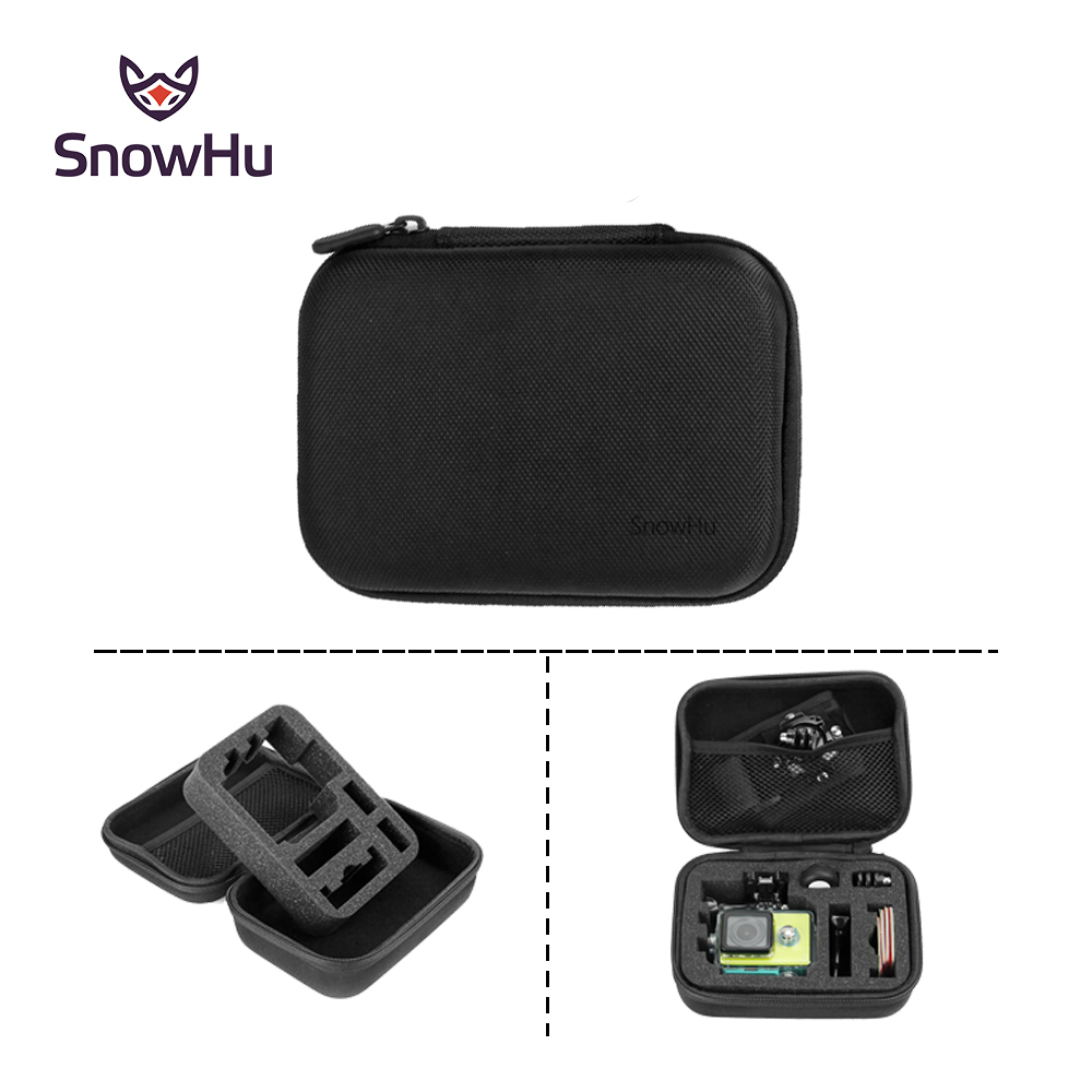 SnowHu Black Shockproof Accessories Small Size Travel Storage Collection Bag Box Case For GoPro Hero 6 5 4 for xiaomi yi 4k GP83 neopine travel portable camera accessories storage bag for gopro hero 2 3 3 4 black