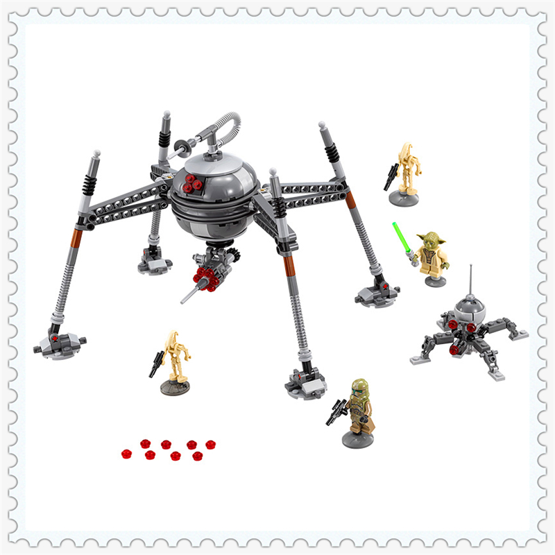 LEPIN 05025 Star Wars Homing Spider Droid Master Building Block Compatible Legoe 320Pcs Educational  Toys For Children bela 10374 star wars 7 battle droid troop carrier 565pcs building block educational toys for children compatible legoe