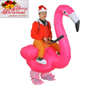 Image 3 - Flamingo Inflatable Costume Christms Mascot  Costume For Women Adults Kids halloween Cartoon Anime Mascot Cosplay For Party