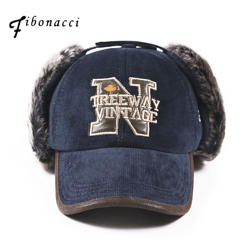 Fibonacci treeway vintage earflap baseball cap high quality classic men women hat winter letter snapback caps hot skullies beanies winter hat pom pom caps unicorn letter for women girl vintage warm spring autumn hat female woct4
