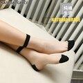 Súper ocultos 10 pares atractivo de seda de algodón mujeres calcetines anti-derrape transparente primavera autunm summer algodón de alta calidad de las mujeres calcetines