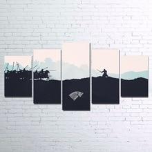 Прямая доставка 5 шт. Quadros настенные принты Плакаты Плакат фильм с холстом картины на холсте стены книги по искусству для гостиная