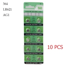 10 PCS Watch Battery 364A 621 AG1 1.55V LR621W Alkaline Watch Accessories  Electronic Battery Button Coin Cell Batteries