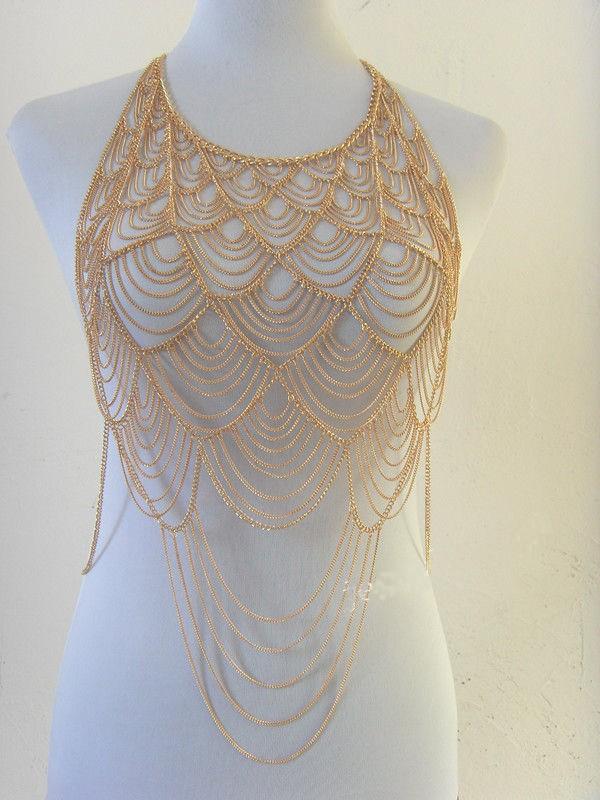 HTB1Mi8zHpXXXXX_XpXXq6xXFXXXe Tasseled Bikini Harness Belly Body Chain