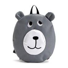 Juguete Lindo de la Historieta de Kindergarten Mochila niño Preescolar Bolsa de Oxford Zoo Paquete Mochilas Cabrito Durable Mochila Cara Redonda Del Oído Del Oso