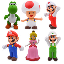 22cm Super Mario Figures Toys Super Mario Bros Bowser Luigi Koopa Yoshi Mario Maker Odyssey PVC Action Figure Model Dolls Toy super mario bros action figures set 6pcs