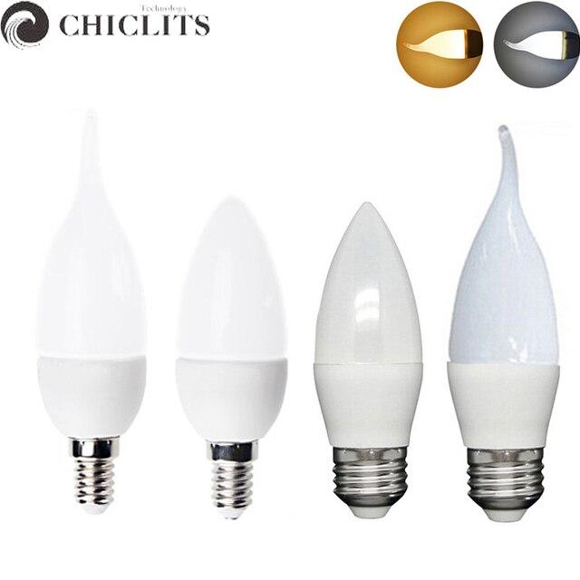 Velas Led Candle Light Lamp 220V E14 3W 5W Chandeliers Lighting Led ...
