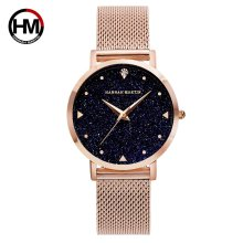 Fashion Ladies Watches Rose Gold Women Luxury Elegant Minimalism Rhinestone Casual Black Female Waterproof Clock