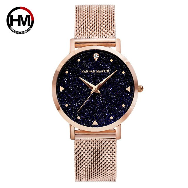 22d8a3170 Fashion Ladies Watches Rose Gold Women Luxury Watches Elegant Minimalism  Rhinestone Casual Black Female Waterproof Clock