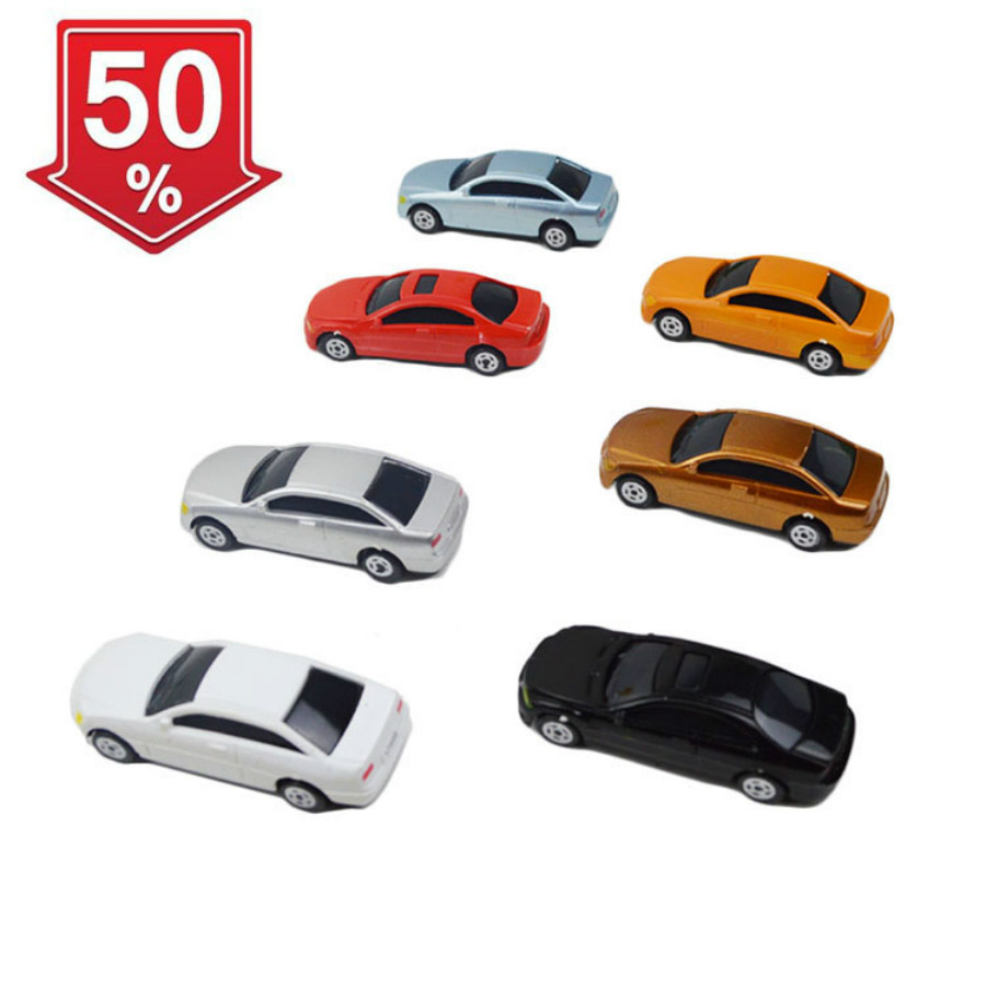 2018 New 20Pcs Painted Model Cars Building Layout Mini 1:100 Scale Model Car Toys