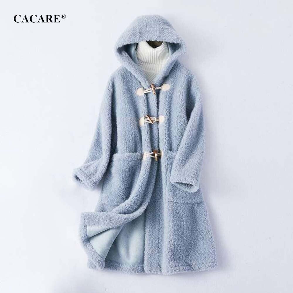 À Laine 4 Manteau Mode Longue Automne bleu bourgogne Beige 2019 Nouveau Hiver F0188 Femmes De Réel Capuche Choix rose Cachemire Alpaga R3AjL54